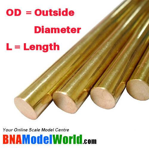 4pcs L: 300mm OD: 2.5mm K/&S Metals Round Brass Rod
