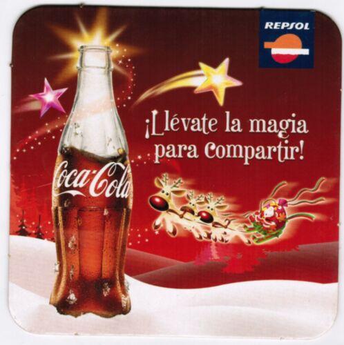 Peru Coaster Coca Cola Christmas Llevate la Magia para compartir Repsol