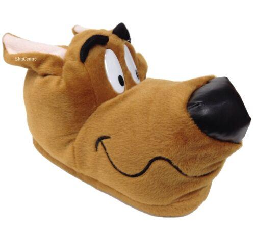 Uomo Donna Bambini Novità Divertente Scooby Dog Pantofole Grigio Marrone Dalmata
