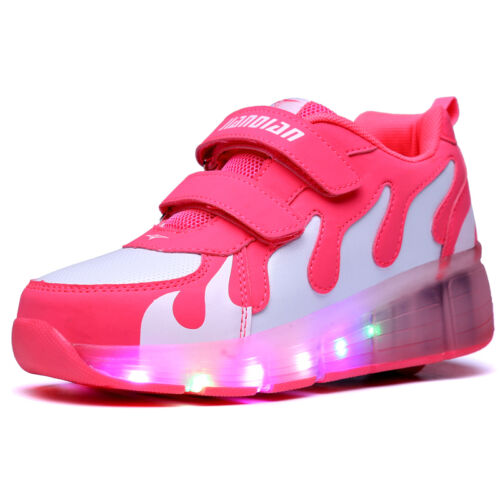 2019 LED Wheels Boys Girls Shoes Skates Kids Light Up Roller Skate Trainers UK