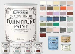 Rust Oleum Chalk Chalky Furniture Paint 750ml 125ml Chic Shabby Vintage Paints Ebay