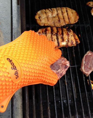 Silicone BBQ Gloves Perfect For Use As Heat Resistant Cooking Gloves
