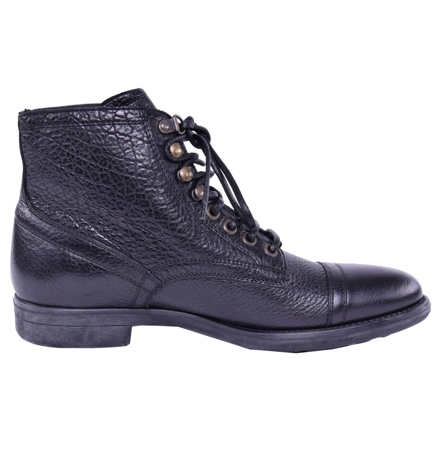 Dolce & Gabbana SIRACUSA Bison Ankle Boots Shoes Black Boots Black 03834