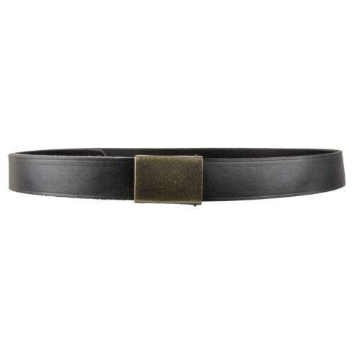 Heim Gürtel 32 mm breit Leder schwarz durchgefärbt