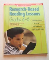 Research-based Reading Lessons Grades 4-6 Scholastic Teaching Strategies Book