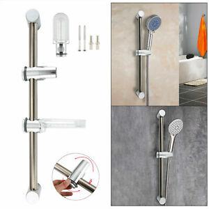 Ultimate-Chrome-Shower-Kit-Adjustable-Slider-Riser-Rail-Bar-Bracket-with-Fitting