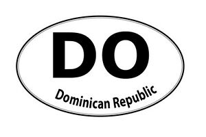 Image Is Loading Dominican Republic Oval Country Code Decal Vinyl Sticker