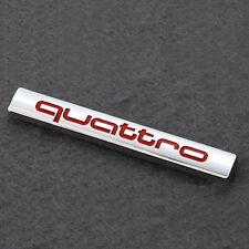 3D Metal Silver Quattro Logo Car Sticker Badge Body/Rear Trunk Emblem For Audi