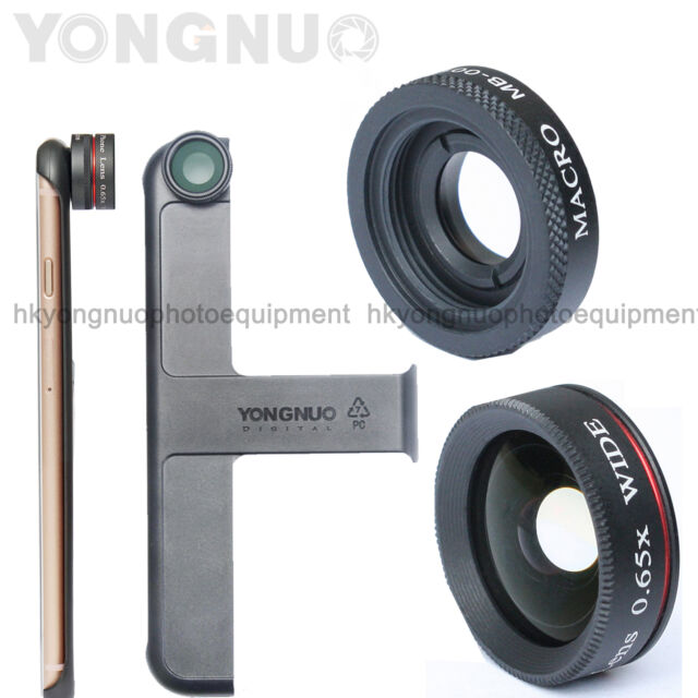 new style 3ca4b 9e370 YONGNUO MP 0.65x Wide Angle Lens Macro Mobile Fisheye Lens for iPhone 6 6s