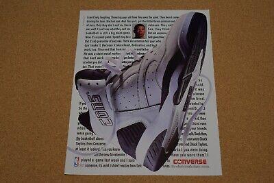 90s Vintage Print AD Kevin Johnson Converse Cons NBA