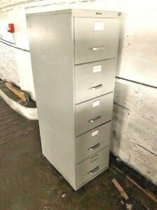 Image Is Loading 5 Drawer Vertical File Cabinets Used Very Nice