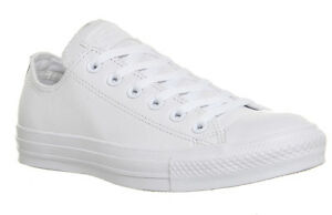CONVERSE-ALLSTARS-OX-LO-WHITE-LEATHER-MONO-UK-SIZES-3-4-5-6-7-8-MENS-WOMENS
