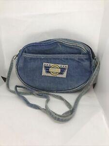 Vintage Denim Wash Coca-Cola Shoulder Bag / Purse Retro