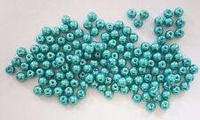 200 Glass Pearl Beads - 6mm - Dark Turquoise