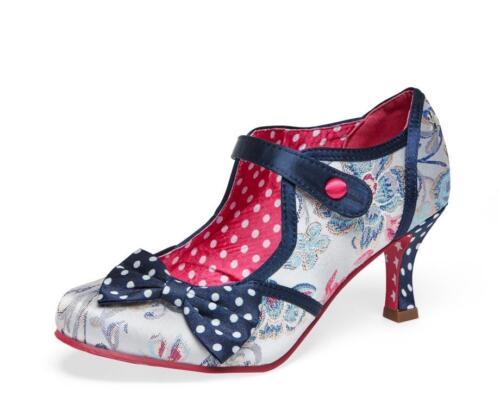 4 Clara Retro Browns Couture Quirky Vintage Taglie Joe 8 Scarpe Ladies RCzOHZO