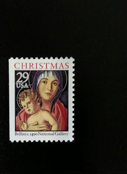 1992 29c Madonna & Child, Bellini, Booklet Single Scott