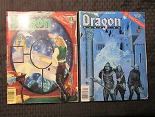 1990 DRAGON Magazine #158 FN- 159 FN 160 VG+ LOT of 3 D&D AD&D TSR