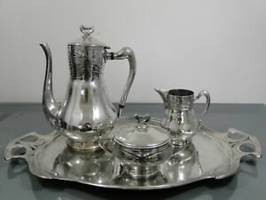 Kaffeeservice,Gerhardi & Co,Lüdenscheid,Metall,um 1900,Jugendstil