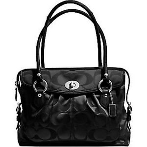 810e9e0482 Image is loading COACH-ADDISON-SPECTATOR-BLACK-SATEEN-SIGNATURE-C-LAPTOP-