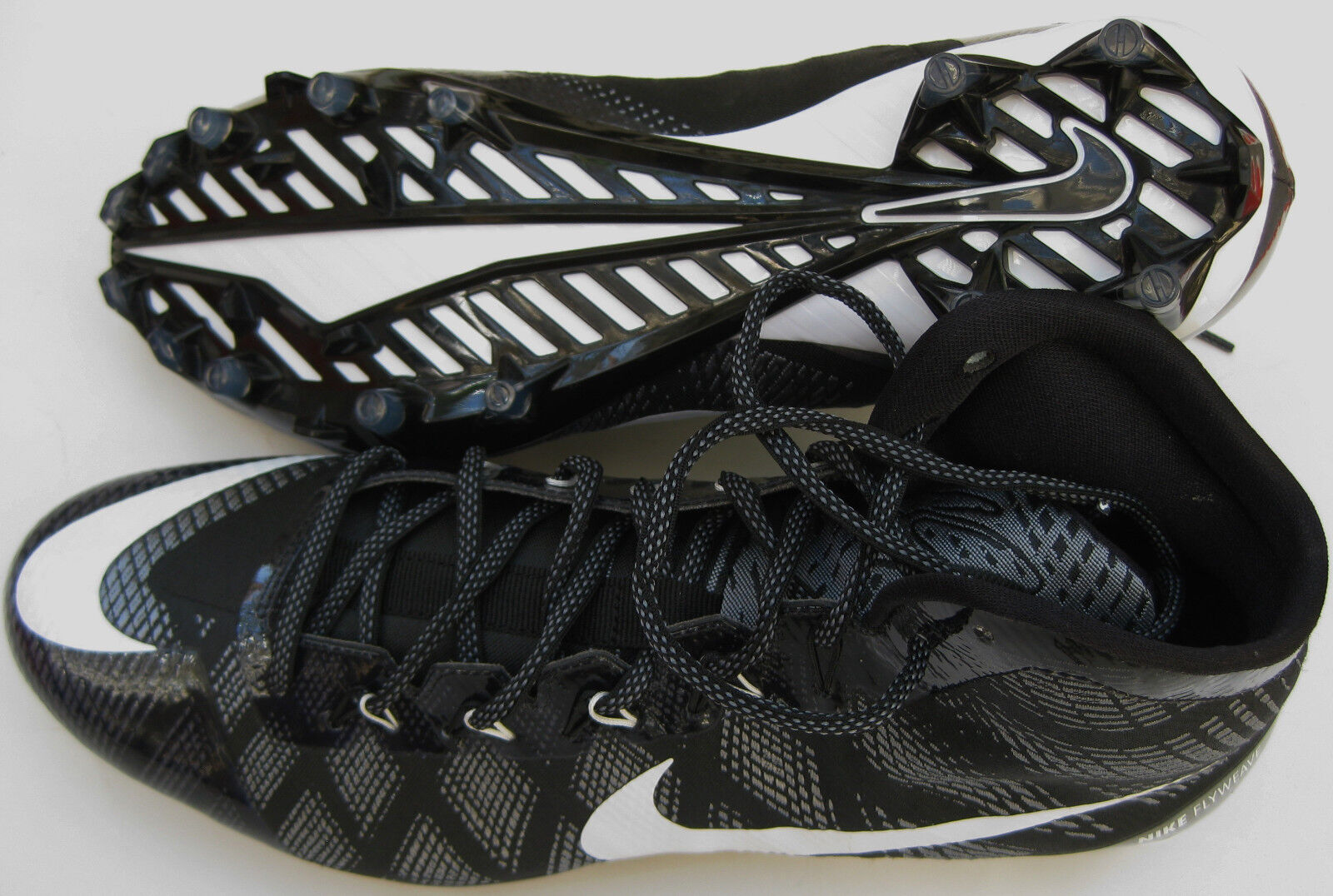 new style 4237a 05fcf ... Nike Men s CJ3 Flyweave Elite Elite Elite TD Football Cleats 725226 Sz  8.5 10.5- ...