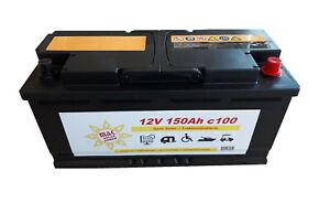 MAK-Solarbatterie-12V-150Ah-Wohnmobil-Camping-Versorgung-Boot-Reha-Batterie