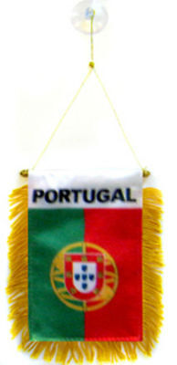 "Wholesale lot 12 Portugal Mini Flag 4/""x6/"" Window Banner w// suction cup"