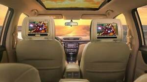 Rockville-RDP711-BG-7-034-Beige-appuie-tete-Voiture-Moniteurs-avec-Lecteur-DVD-USB-HDMI-Jeux