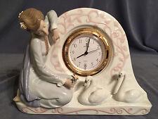 "Rare & Stunning Lladro ""Swan Clock"" (5777 Works Great) See Description"