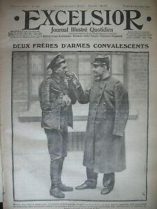 WW1-N-1480-SOLDATS-CONVALESCENTS-TRANCHeES-DE-1ere-LIGNE-JOURNAL-EXCELSIOR-1914