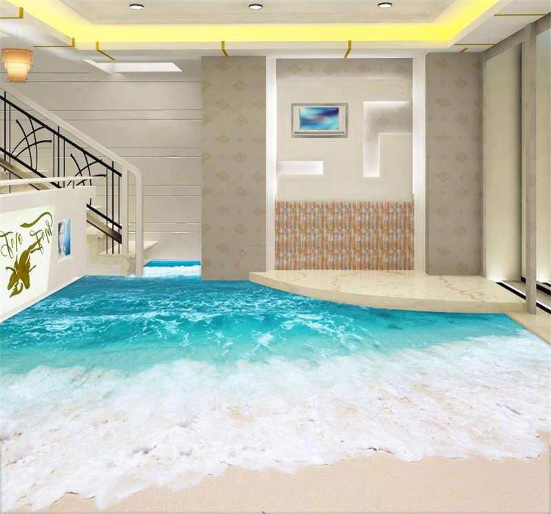 Best Best Best Beach Scenery Sea 3D Floor Mural Photo Flooring Wallpaper Home Wall Decal 6acada