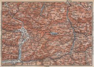 Saalfelden Tazenbach Golling Zel-am-see Wagrain 1899 Map Selfless Konigssee & Environs Europe Maps Maps, Atlases & Globes