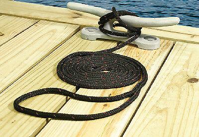 Polypropylene Dock Line Black 3//8In X 15F Seachoice 42431