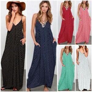ZANZEA-Women-Spaghetti-Strap-Long-Maxi-Dress-Polka-Dot-Summer-Beach-Slip-Dress