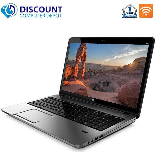 "HP Laptop 450 G2 15.6"" Computer PC i3 4GB 128GB SSD Webcam Bluetooth Windows 10"