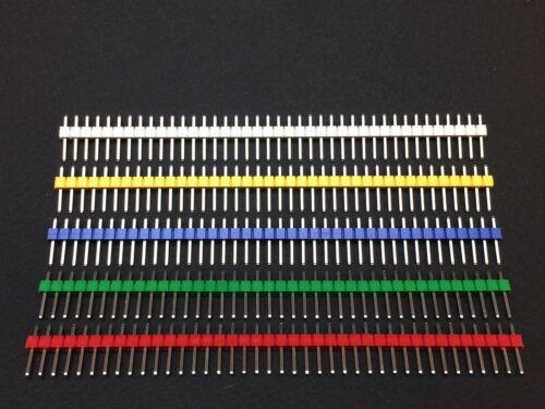 Stiftleiste buntRot,Grün,Blau,Gelb,Weiß40 PinsRM 2,54 mm
