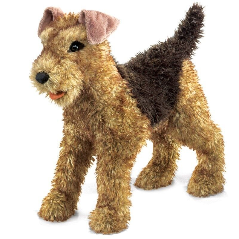 AIREDALE TERRIER Dog Puppet 2993  in USA  Folkmanis Puppets