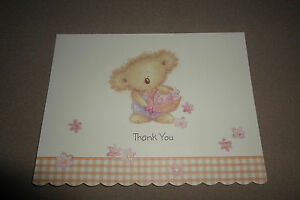 Boomerang bear thank you notecard envelope by american greetings image is loading 034 boomerang bear 034 thank you notecard amp m4hsunfo