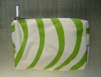 Marimekko Finnair Airlines First Class Toiletry Make Up Bag Green White