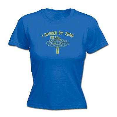 Fiducioso Divertenti Novità Tops T-shirt Da Donna Tee T-shirt-i Diviso Per Zero-mostra Il Titolo Originale
