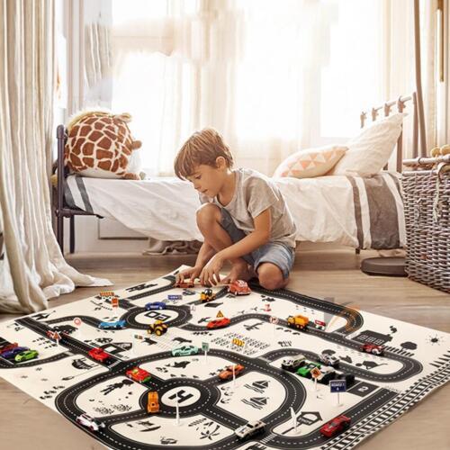 North European Style Kids Car City Scene Taffic Highway Map Play Mat Educational