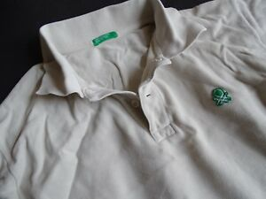 BENETTON Beigefarbenes Poloshirt Gr.152