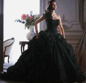 2018 sweetheart a line black wedding dress organza bridal gown a imagem est carregando querida 2018 a line preto vestido de casamento junglespirit Gallery