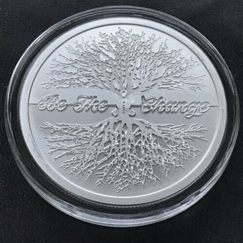 2019 Silver Shield 1 oz Series Be The Change Tree of Life Yoga Chakra Peace