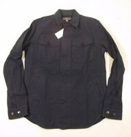 Vince Men's Indigo Blue Tailored Fit Cpo Shirt Jacket $355
