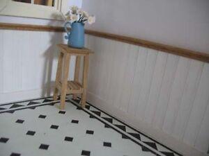 Dolls house miniature bambole house.flooring piastrelle marlike