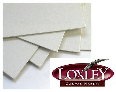 """7"""" x 5"""" LOXLEY BLANK CANVAS PRIMED OIL & ACRYLIC ARTIST PAINTING BOARD LCB75"""