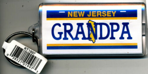 NEW JERSEY NAME KEYCHAIN GRANDPA LN-01//02-03