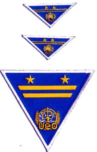 Set of 3  USA Mailed SQPA-004 Seaquest Commander Blue TV Series Patch