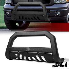 For 2002 2009 Dodge Ram Texuture Blk Avt Edge Bull Bar Push Bumper Grille Guard Fits 2005 Dodge Ram 1500