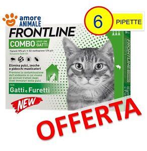 Frontline Combo Gatto - 6 Pipette - Antiparassitario Antizecche Antipulci Gatti